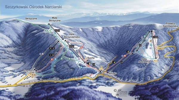 Stoki narciarskie w Szczyrku - ośrodek Szczyrkowski